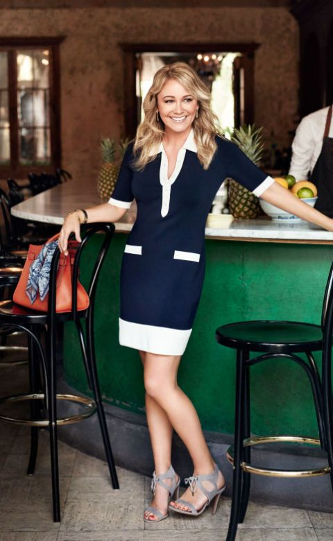 "<p>Repeat after us: ""Navy and white never go out of style!"" Make the seaside-chic duo pop with a bold tangerine bag.</p><p><em><strong>Dress</strong>, Lauren Ralph Lauren, $174, <a href=""http://ralphlauren.com"" target=""_blank"">ralphlauren.com</a>. <strong>Earrings</strong>, $50, <a href=""http://stellaandbow.com"" target=""_blank"">stellaandbow.com</a>. <strong>Watch</strong>, Anne Klein, $75, <a href=""http://amazon.com"" target=""_blank"">amazon.com</a>. <strong>Bracelet</strong>, $12, <a href=""http://forever21.com"" target=""_blank"">forever21.com</a>. <strong>Heels</strong>, $34, <a href=""http://lulus.com"" target=""_blank"">lulus.com</a>. <strong>Bag</strong>, $128, <a href=""http://guess.com"" target=""_blank"">guess.com</a>. <strong>Scarf</strong> (on bag), $29, <a href=""http://echodesign.com"" target=""_blank"">echodesign.com</a>.</em></p><p><em><strong>On location:</strong> <a href=""http://www.caneandtablenola.com/"" target=""_blank"">Cane & Table New Orleans</a></em></p>"