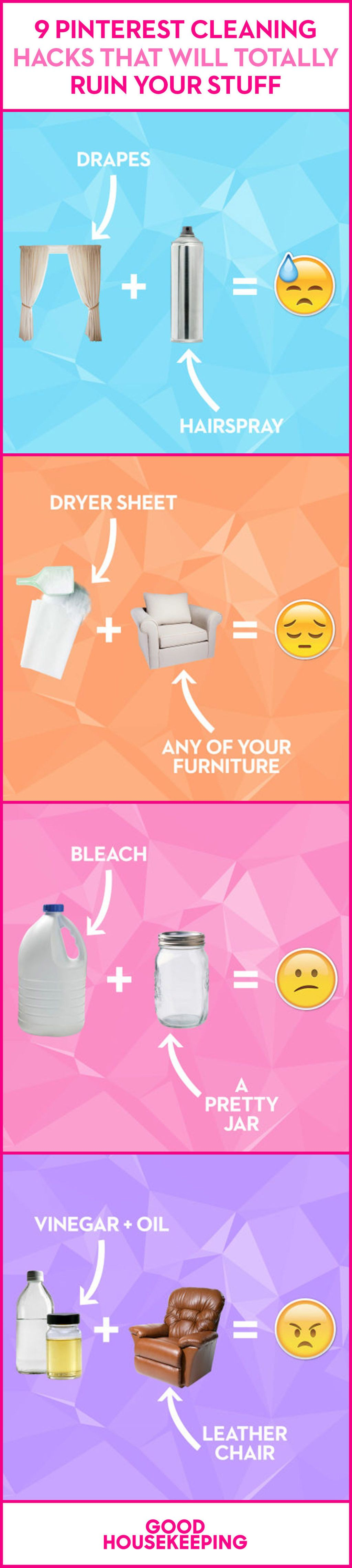 9 Pinterest Cleaning Hacks That Will Totally Ruin Your Stuff