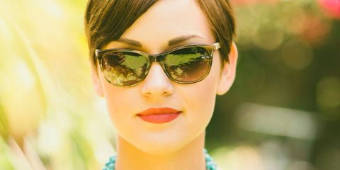 Eyewear, Glasses, Vision care, Lip, Hairstyle, Chin, Forehead, Goggles, Sunglasses, Eyebrow,