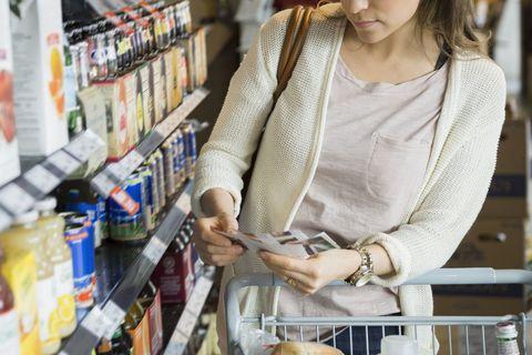 grocery shopping trip big families coupon