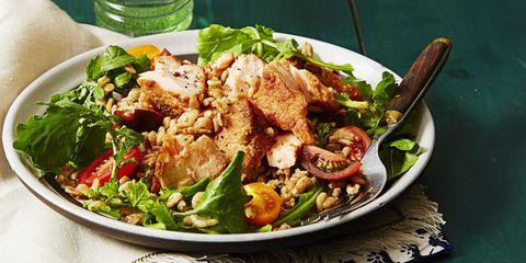 Farro Arugula Salad With Mustard Vinaigrette