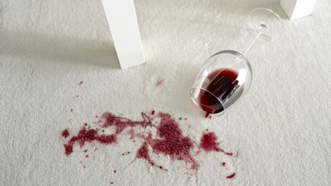 how to clean dried wine from carpet