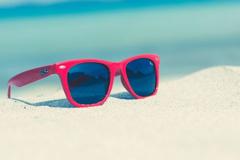 Eyewear, Glasses, Vision care, Blue, Sunglasses, Personal protective equipment, Photograph, Glass, Red, Line,