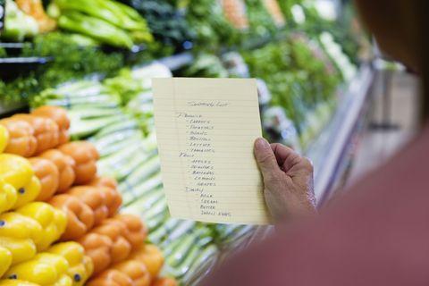 grocery shopping list tricks big families