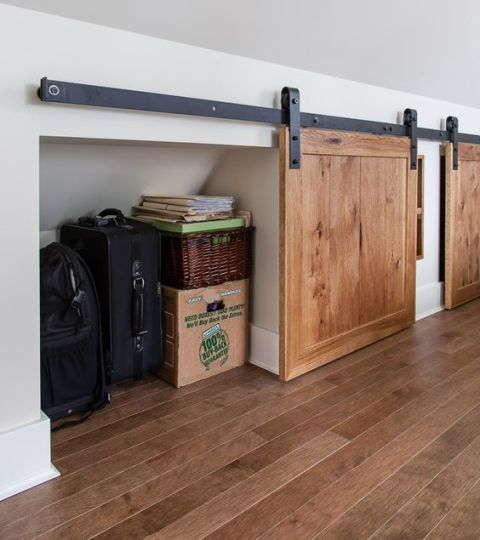 attic rolling door storage
