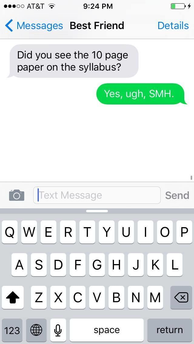 The meaning of smh in text