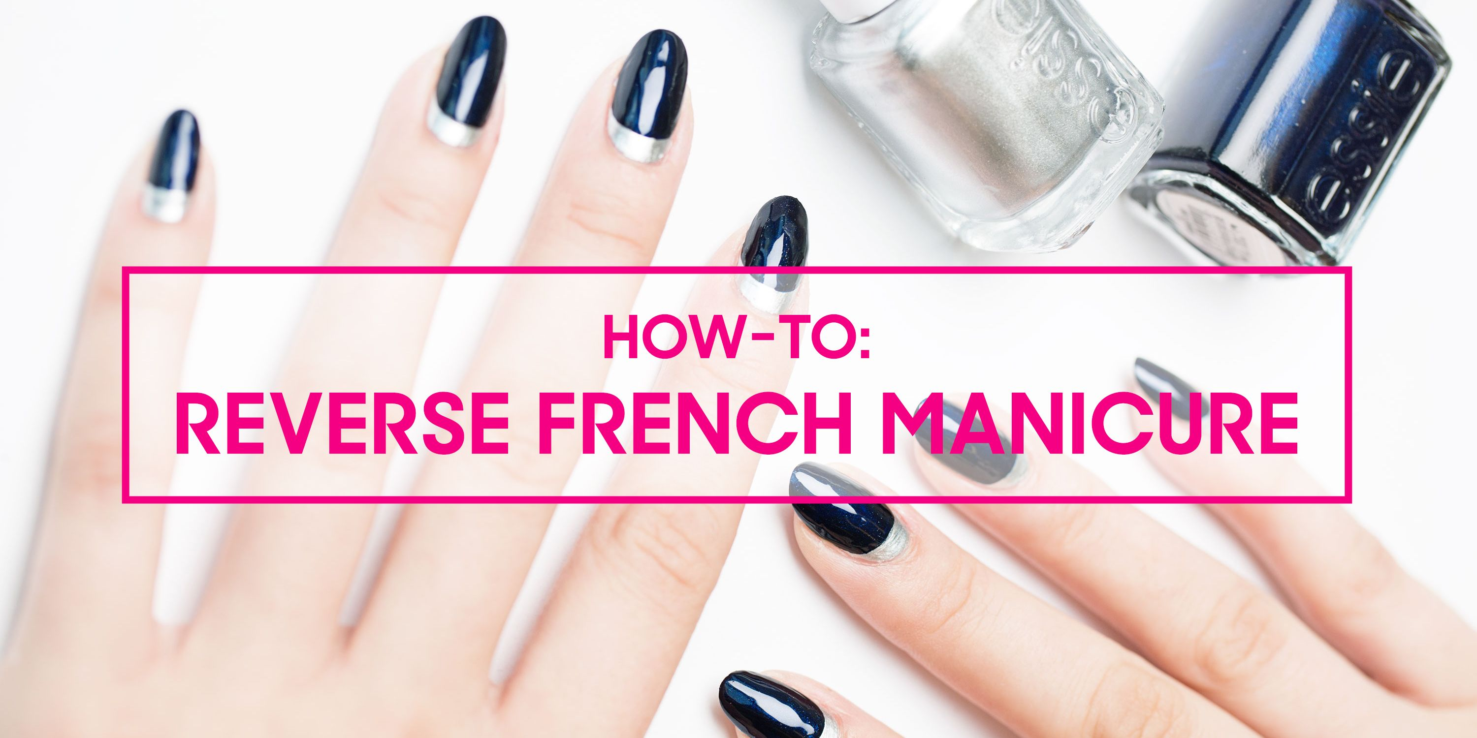 Reverse French Manicure Tutorial — How to Do a Half Moon Manicure