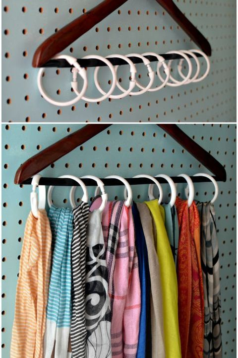 Closet Organizer Ideas - Shower Rings