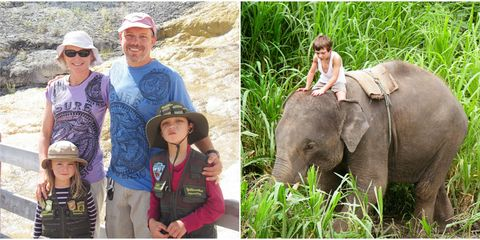 the Bailey Giauque family in Yellowstone and Thailand