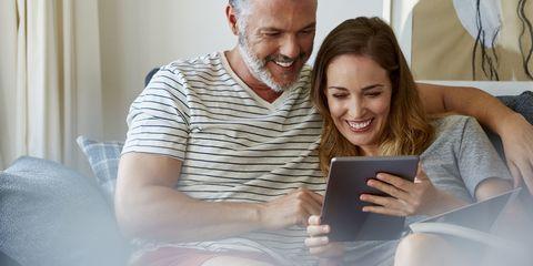 Couple Watching iPad