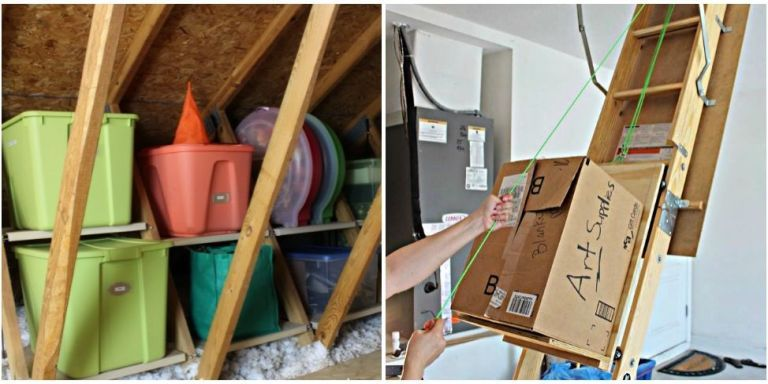 unfinished attic storage ideas - how to add storage to an unfinished
