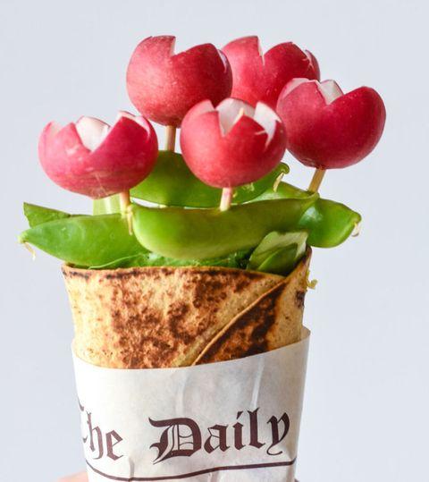 Chickpea Salad Bouquet Wraps