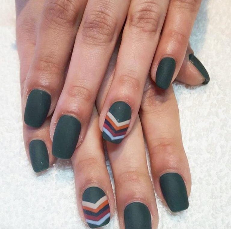 13 Cool Matte Nail Design Ideas Unique Matte Nail Polish Art