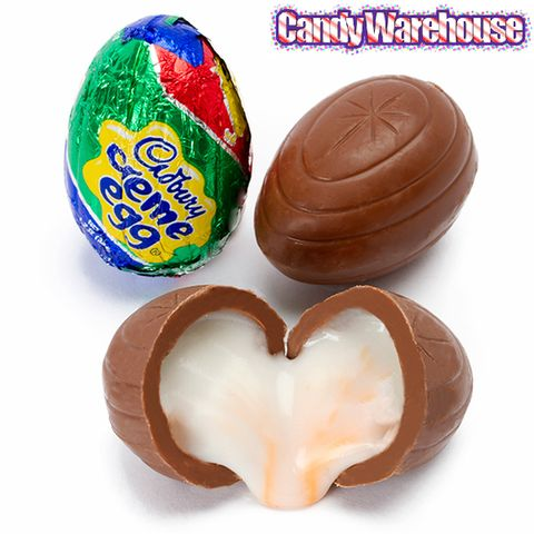 <p>Cadbury Creme Eggs have become such an Easter staple that the holiday seems incomplete without them. Filled with a creamy center, these milk chocolate treats come individually wrapped—but you can never have just one.</p>
