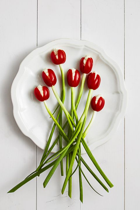 Summer Party Tomato Tulips - Easter Dinner Ideas