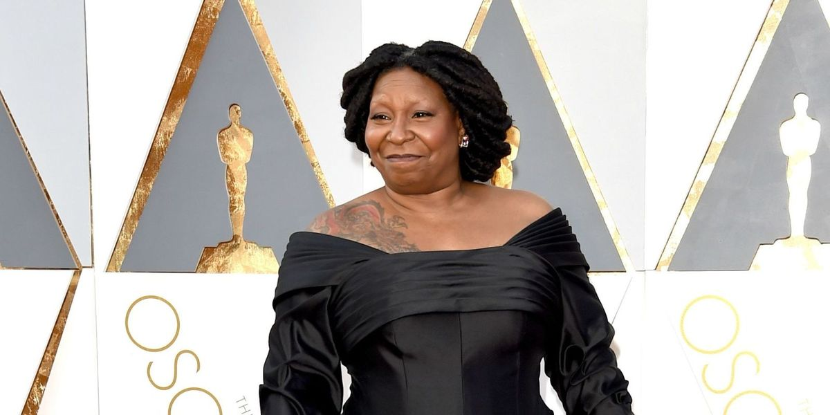 Whoopi Goldberg Shows Off Dragon Tattoo On Oscars Red