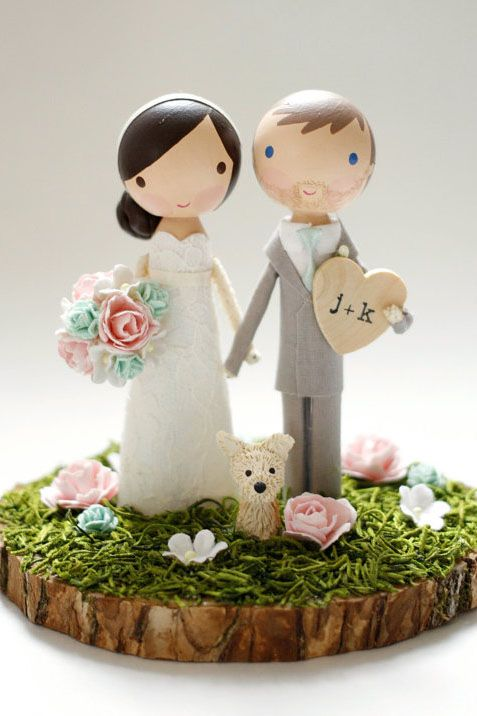 19 unique wedding cake toppers wedding cake topper with dog junglespirit Image collections