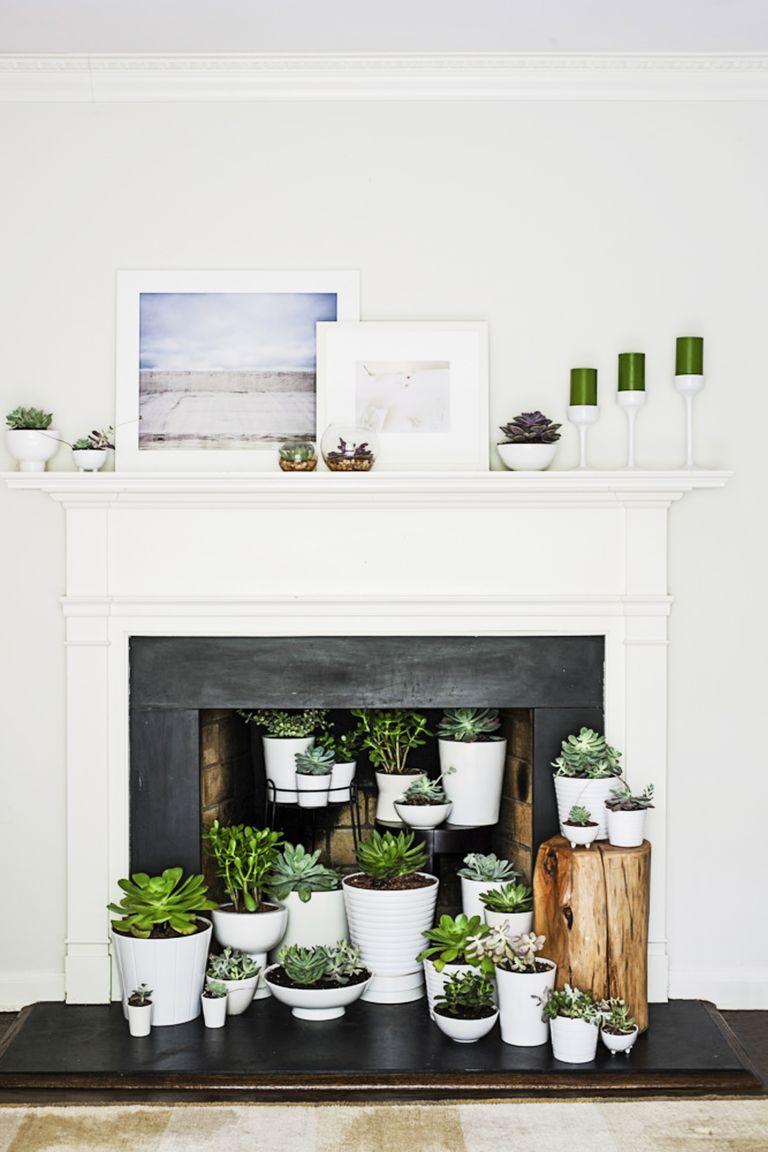 18 fireplace decorating ideas best fireplace design inspiration. Black Bedroom Furniture Sets. Home Design Ideas