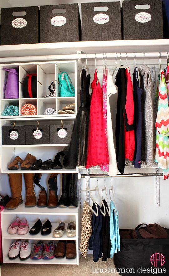 ideas on organizing closets