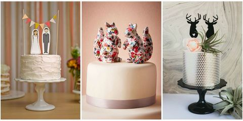 19 unique wedding cake toppers junglespirit