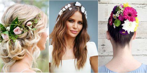 Hair, Head, Hairstyle, Hair accessory, Forehead, Petal, Bridal accessory, Photograph, Headpiece, Fashion accessory,