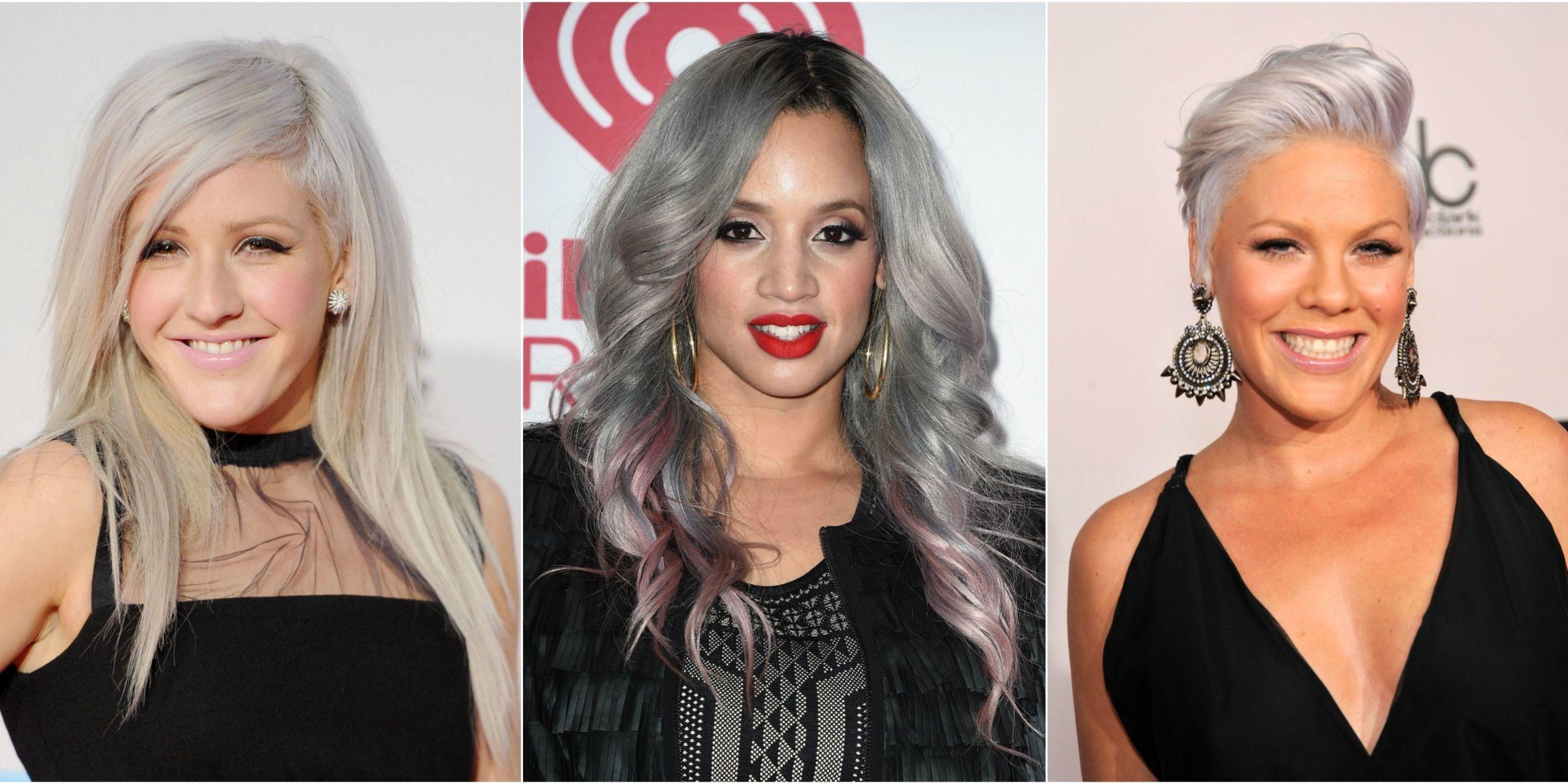 13 Silver Hair Color Ideas Celebrity Silver Hair Dye Shades