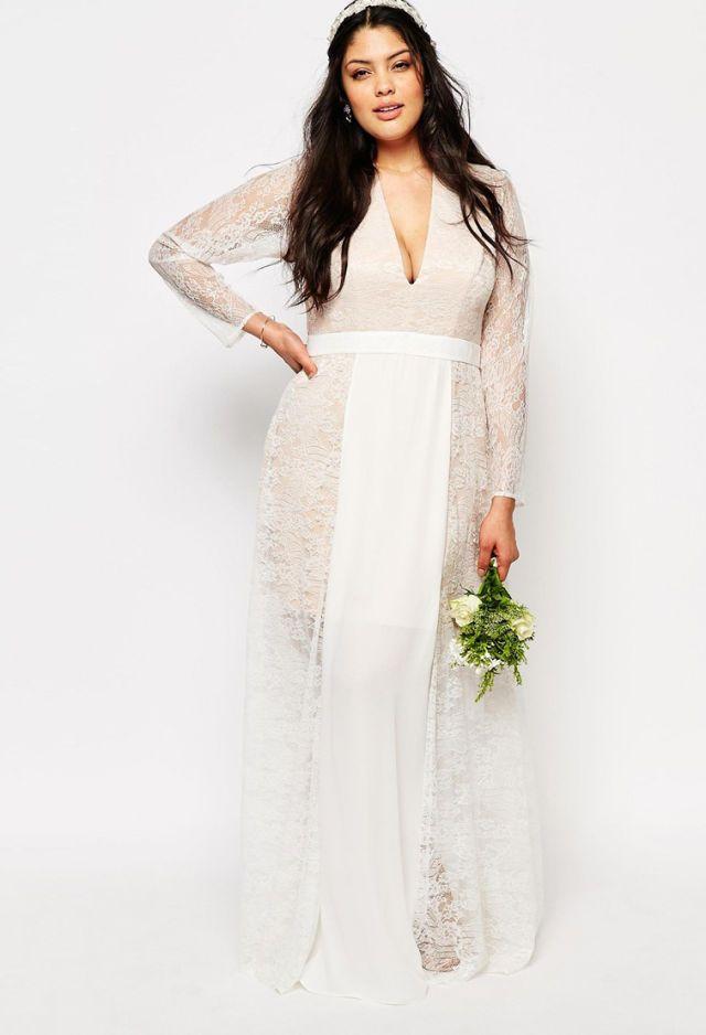 Champagne Vintage Lace Wedding Dress Under 1000