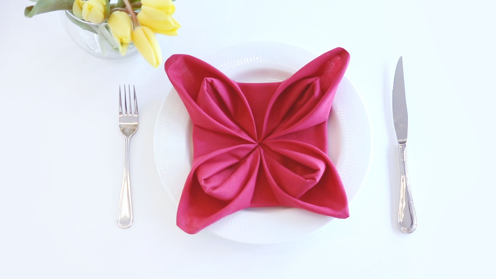 How To Fold A Flower Napkin