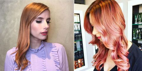 Rose Gold Hair Color Trend Deep Notjessfashion Com