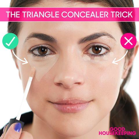 Triangle Concealer Trick - Concealer Trick That Brightens