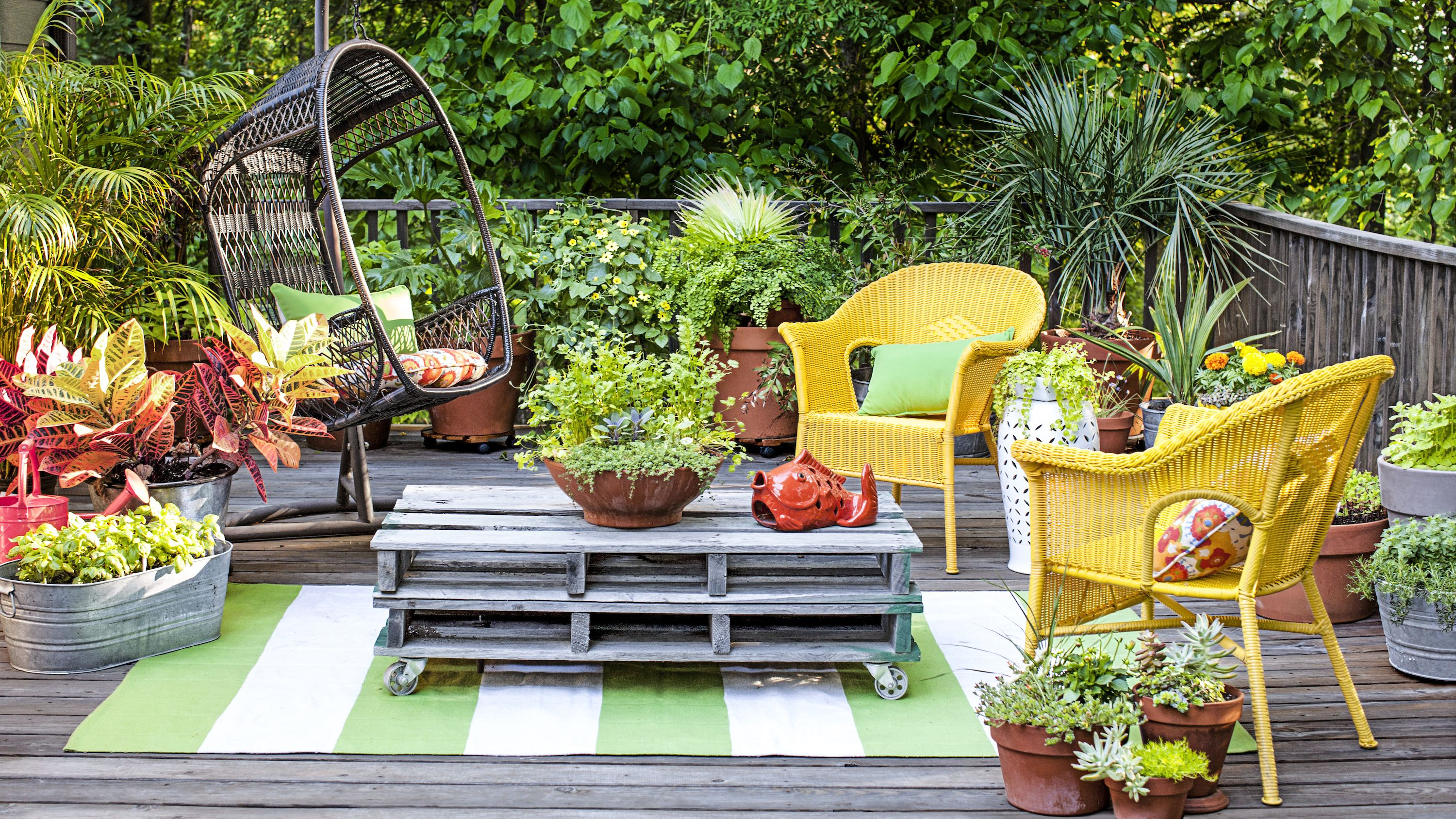 container gardening potted plants & 20 Best Yard Landscaping Ideas for Front and Backyard - Landscaping ...