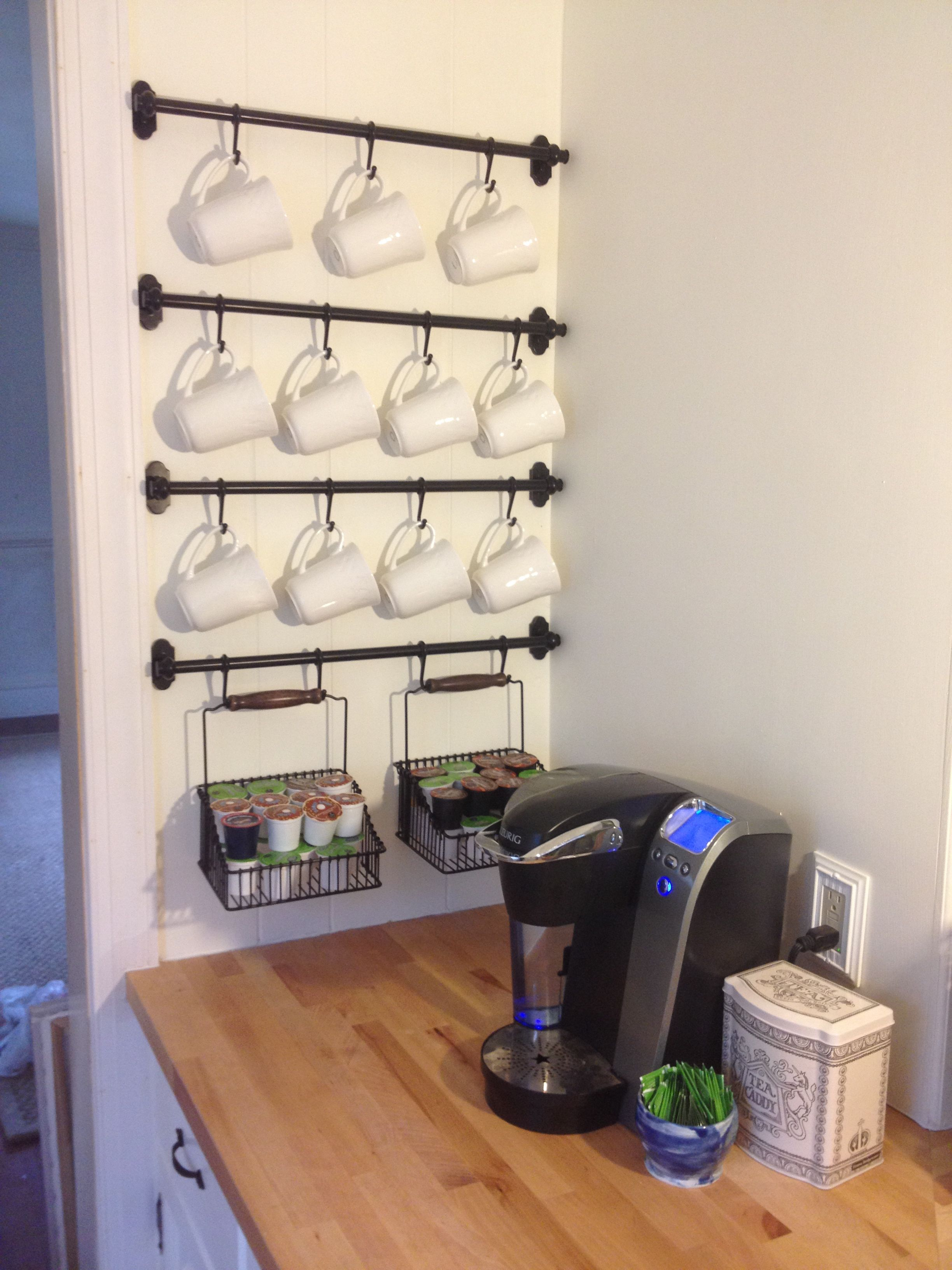 How To Organize Your Coffee Cups Kitchen Coffee Mug Organization Ideas