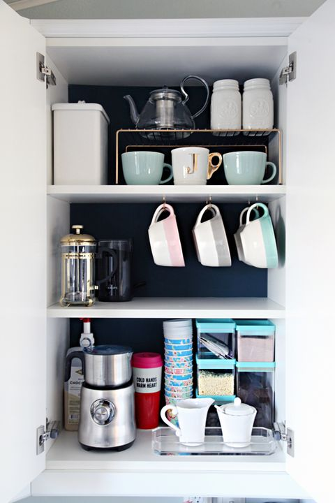 coffee cup cabinet