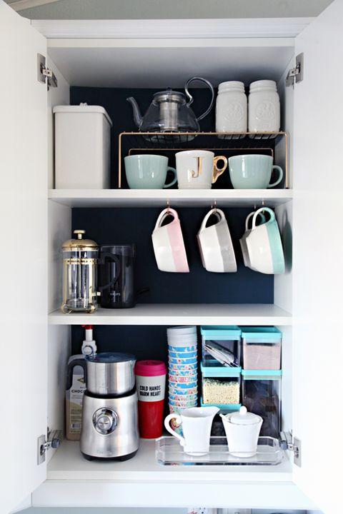 How To Organize Your Coffee Cups Kitchen Coffee Mug Organization Ideas