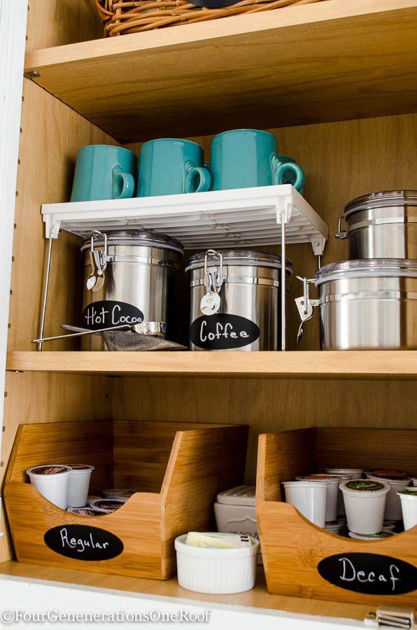 & How to Organize Your Coffee Cups - Kitchen Coffee Mug Organization Ideas