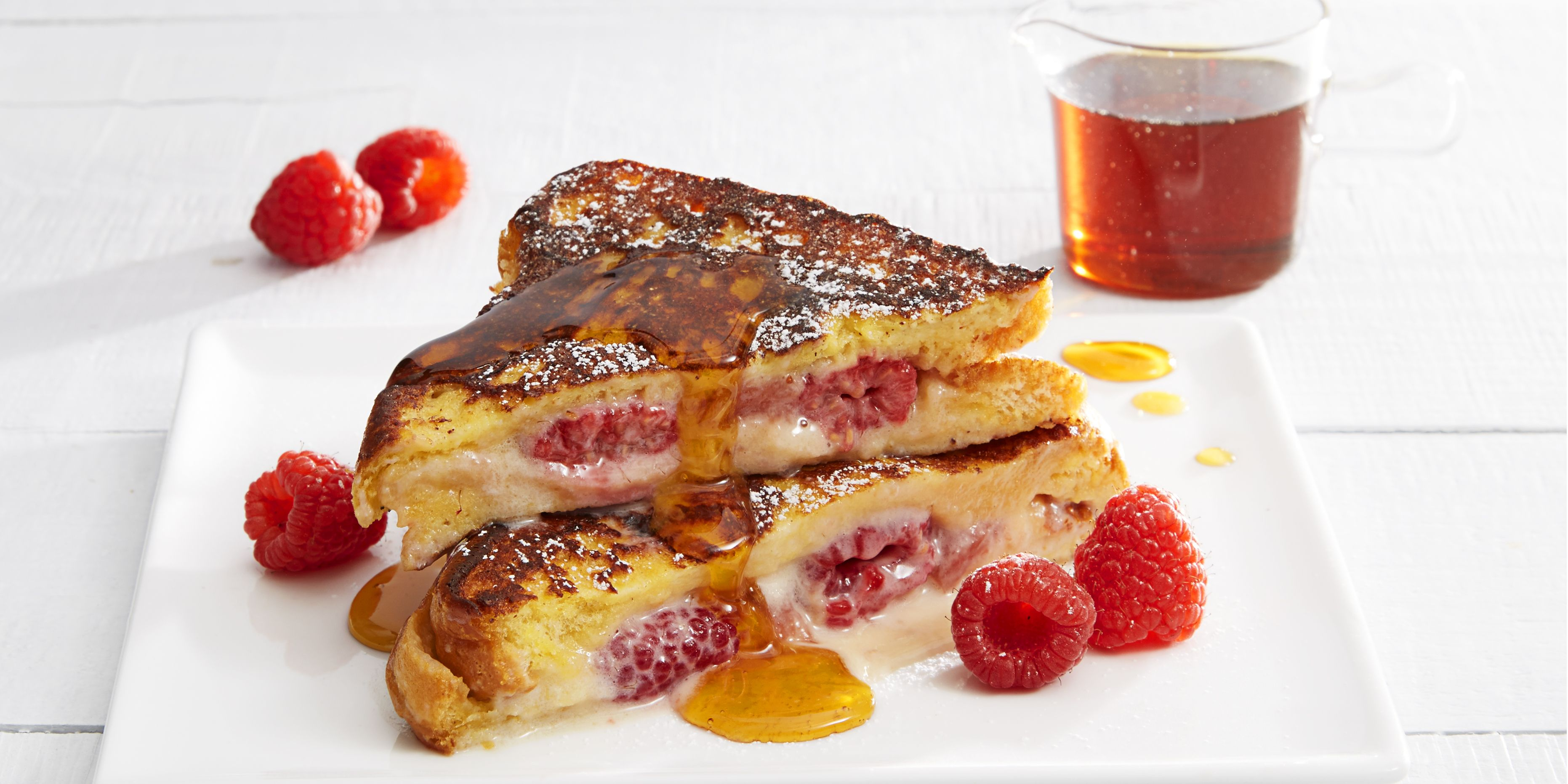 "Raspberry ""Cheesecake"" French Toast"