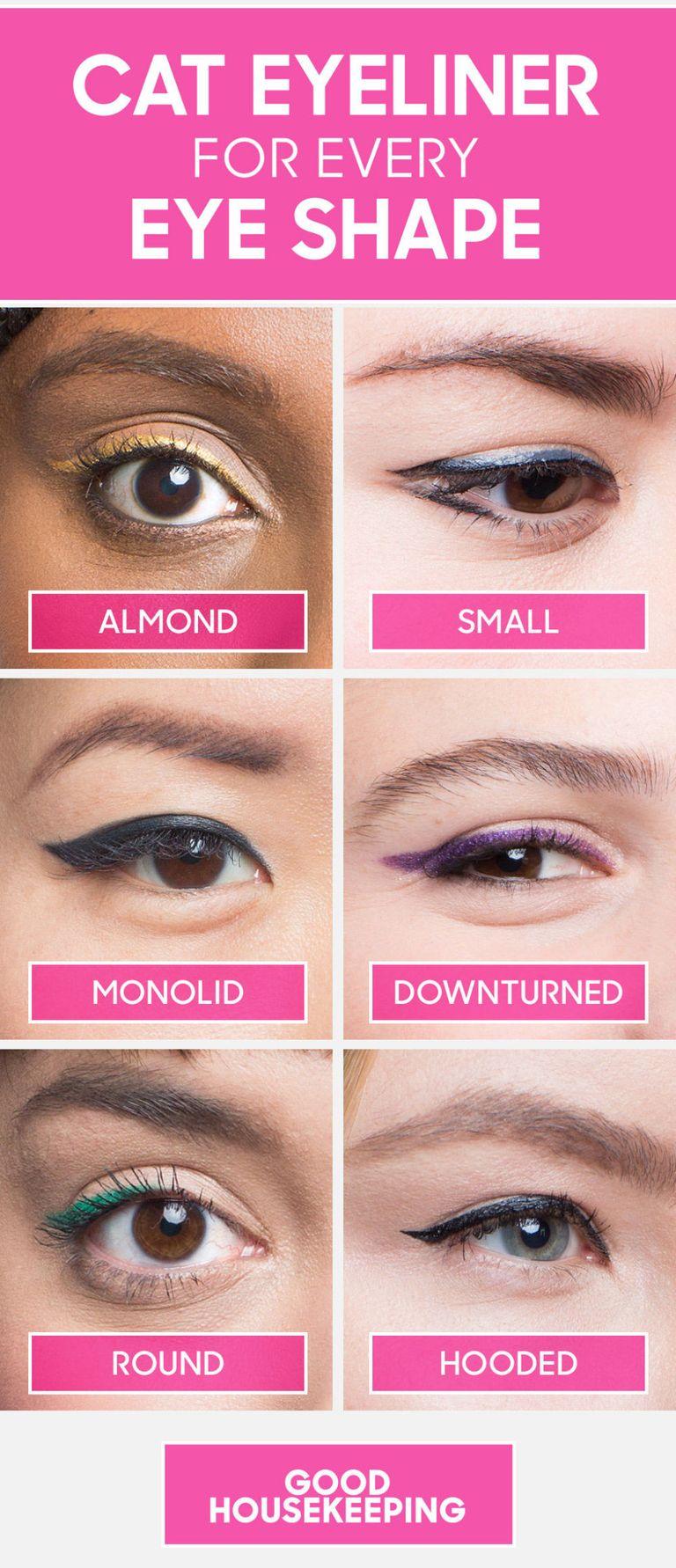How to do winged eyeliner for every eye shape cat eyeliner tutorial winged eyeliner for every eye shape baditri Image collections