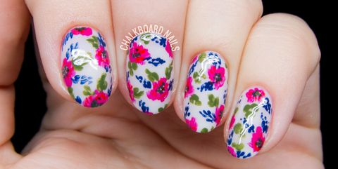 Floral Nail Art - 25 Flower Nail Art Design Ideas - Easy Floral Manicures For Spring