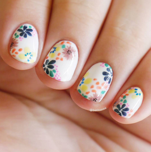 25 Flower Nail Art Design Ideas - Easy Floral Manicures for Spring ...