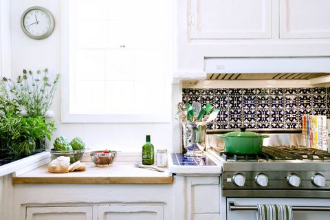 "<p>For most people, kitchens trend toward neutral territory — but too much beige, white, or gray is a missed opportunity for some lively pattern, which can make a kitchen feel more like home. </p><p><br> </p><p>""Tile can coexist beautifully with solid surfaces,"" says designer <a href=""http://www.lindsaypenningtoninc.com"" target=""_blank"">Lindsay Pennington</a>. ""It adds a rustic element that takes an edge off modern kitchens. I adore Spanish and Moroccan tiles for their playful colors and sense of personality.""</p>"