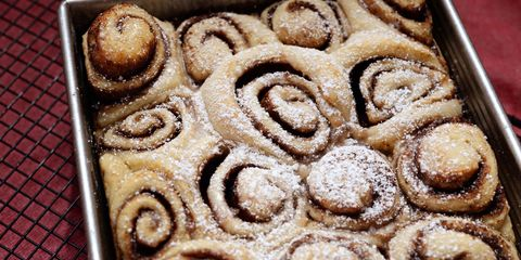 cinnamon rolls with chickpea water
