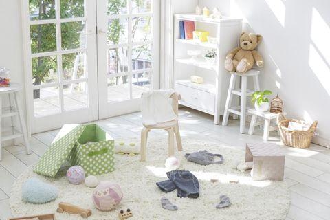Room, Interior design, Home, Shelving, Interior design, Beige, Toy, Shelf, Stuffed toy, Flowerpot,