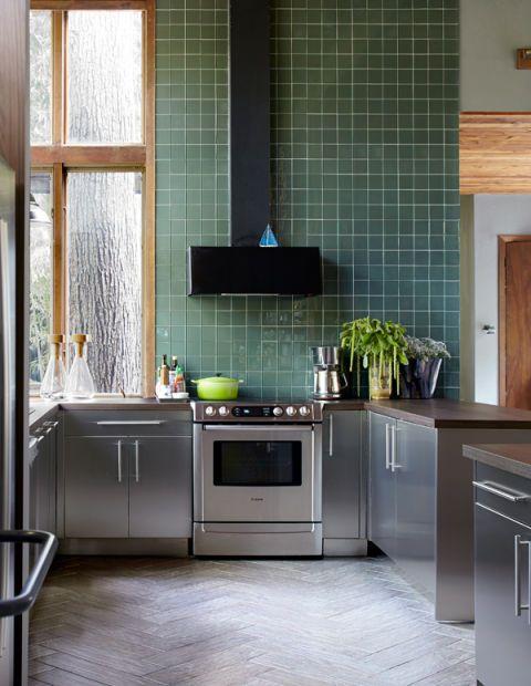 Room, Floor, Flooring, Property, Interior design, Major appliance, Home, Cabinetry, Glass, Kitchen,
