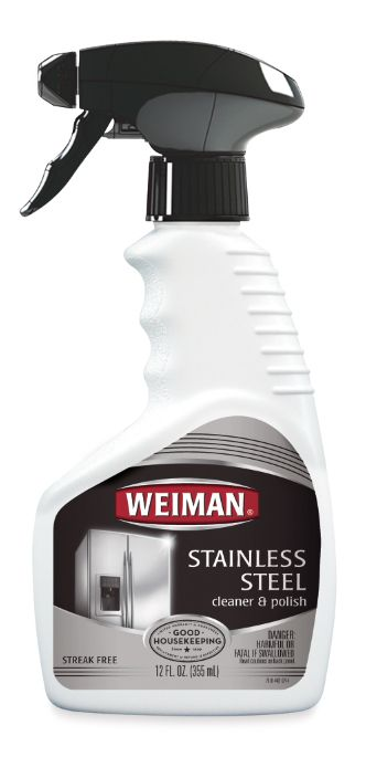 """<p>Keep your stainless steel appliances gleaming. In our Lab tests, this cleaner easily dissolved grease and helped protect against pesky fingerprints.</p><p><em>($7, <a href=""""http://weiman.com"""" target=""""_blank"""">weiman.com</a>)</em></p>"""