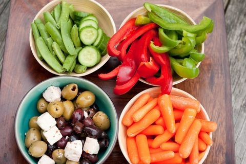 veggies on a platter