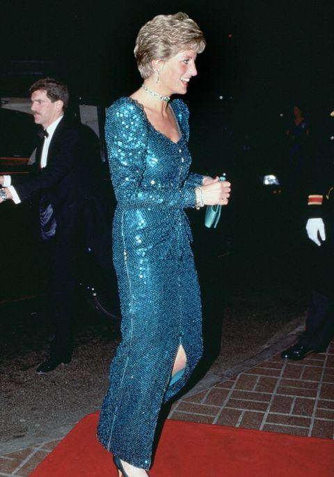 Princess Diana\'s Green Gown and Tartan Coat Dress Are Up for Auction