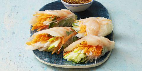 Vietnamese Shrimp and Vegetable Rolls