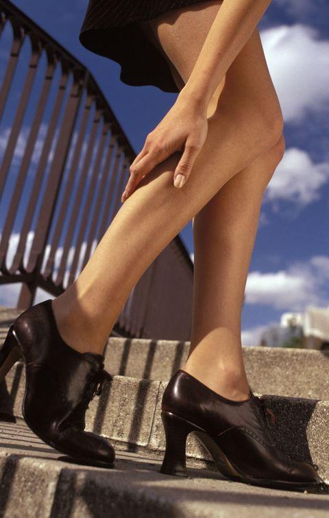 Footwear, Brown, Human leg, Joint, High heels, Tan, Fashion, Foot, Sandal, Calf,