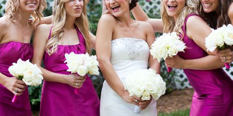Clothing, Smile, Yellow, Dress, Eye, Fun, Bouquet, Petal, Photograph, Flower,