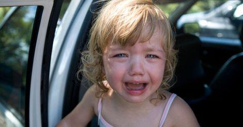 Crying Female Child Kid